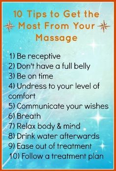 10 Tips To Get The Most From Your Massage!  Come to Pressure Point Massage Therapy in Southfield, MI for a FANTASTIC massage!  Call us NOW at (248) 358-8800 to book your appointment!  Feel free to visit our website www.pressurepointmassagetherapy.com for more information!