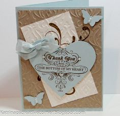Stampin Up Thank You Card using the From My Heart stamp set.