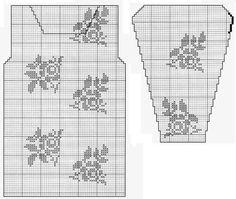Филейное вязание, туники_ Filejnoe vjazanie, tuniki