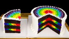 Vamos falar de bolo Olhem esse bolo colorido que lindo que ficou!