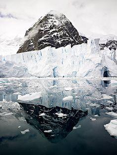 Mountain Reflection. Antarctica.