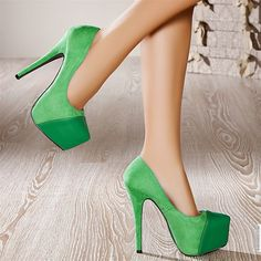 Escarpins women green heels #heels #stiletto http://www.loveitsomuch.com/