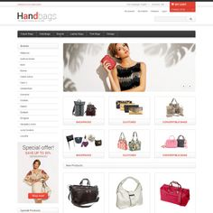 Magento Theme for Handbag Website