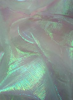 Moonglow Iridescent Crinkle Organza Fabric, Blue Mist - by the yard