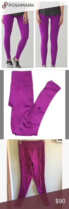 Lululemon Zone in tight Size 4 in excellent condition. No holes or stains.                This leggings are made to supports your abs, hips, bum, and thighs this are also high rise which is perfect when working out . lululemon athletica Pants Leggings
