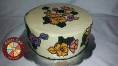 Buttercream floral Cake