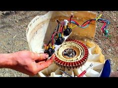 How to make a magnetic generator out of an old washing machine - Survivalized