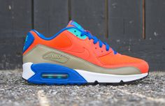 "Nike Air Max 90 Essential ""Bamboo, Team Orange & Cobalt"" - EU Kicks: Sneaker Magazine"