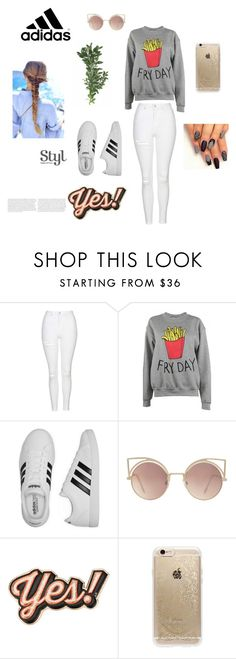 """""""#4"""" by selma-366 ❤ liked on Polyvore featuring Topshop, Adolescent Clothing, adidas, MANGO, Anya Hindmarch and Rifle Paper Co"""