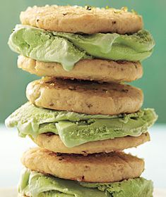 Margarita Ice Cream Sandwiches: Tropical and citrusy, this treat sandwiches lime sherbet and vanilla ice cream between cookies dusted with sea salt.