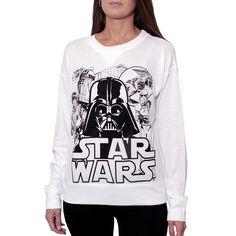 Star Wars Sweatshirt (€42) ❤ liked on Polyvore featuring tops, hoodies, sweatshirts, sweatshirt hoodies, long sleeve tops, crewneck sweatshirt, crew neck sweat shirt and long sleeve sweatshirt
