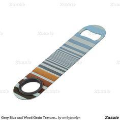 Grey Blue and Wood Grain Texture Gradient Stripes Bar Key
