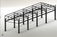 Steel Trusses, Roof Trusses, Truss Structure, Steel Structure, Autocad, Roof Truss Design, Porches, Drywall Installation, Steel Frame Construction