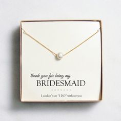pearl bridesmaid necklace..they have silver too!