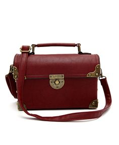 Preppy PU Leather Rectangular Flap Bag