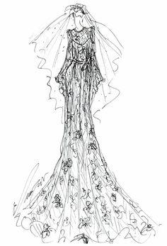 Fall 2013 collection sketch   Elizabeth Fillmore   brides.com