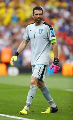 Gianluigi Buffon of Italy looks on during the UEFA EURO 2016 Group E match between Italy and Sweden at Stadium Municipal on June 17, 2016 in Toulouse, France.