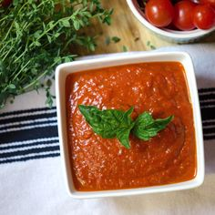 Roasted Tomato and Red Pepper Marinara Sauce via Chic Eats // Summer ...
