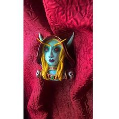 #polymerclay #clay #pendant #sylvanas #windrunner #wow #fimo #portrait #bust Sylvanas Windrunner, Polymer Clay, Lion Sculpture, Batman, Statue, Superhero, Portrait, Pendant, Fictional Characters