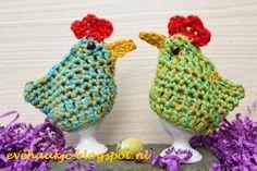 Haken en Kralen: Easter chick egg cosy - These are adorable!