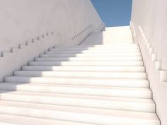 architectural concept with stairs 3d rendering