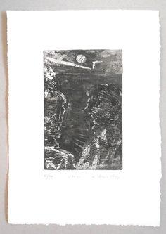 Roman Lasa  - Księżyc - ArtXXI - Akwaforta