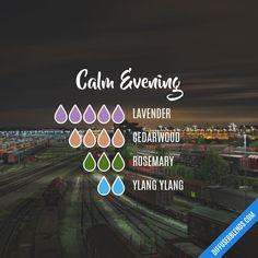 Calm Evening Essential Oils Diffuser Blend ••• Buy dōTERRA essential oils online at www.mydoterra.com/suzysholar, or contact me suzy.sholar@gmail.com for more info.