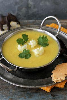 Erkältungskiller - Indische Blumenkohl-Curry-Suppe