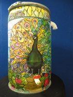 InterLinc: Artistic Rain Barrel Program About the Artist: Barbara Johnson, Peacock in the Garden a.k.a. L.C. Tiffany