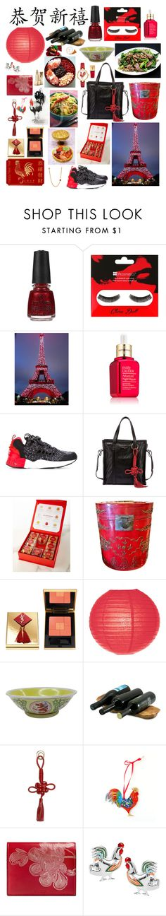 """""""Chinese New Year"""" by stellastar22 ❤ liked on Polyvore featuring interior, interiors, interior design, home, home decor, interior decorating, China Glaze, Estée Lauder, Reebok and Balenciaga"""