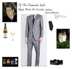 """""""Of The Elements Ball:  Aiden GreenStone"""" by w-illusion ❤ liked on Polyvore featuring Gieves & Hawkes, Emporio Armani, Cifonelli, Nordstrom, men's fashion and menswear"""