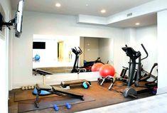 minimal equipment  home gym ideas  at home gym basement