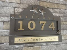 Modern Address Plaque Customized House Numbers Sign House