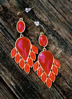Reddress // Arrowhead Earrings-Flame - $22.00