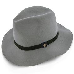 957bbe889ba Endeavour - Walrus Hats Grey Wool Felt Fedora Hat - H7007