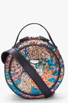 Round Floral Sequin Shoulder Bag - Carven. Round bags are completely impractical. So are things covered with sequins. Two impracticalities totally cancel each other out, right?