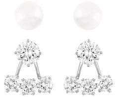 Attract Pearl Pierced Earrings Jacket Set