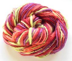 Handspun Merino Yarn & Toddler Hat Knitting Pattern by PurpleLamb