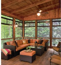 Surf photos of sunroom designs as well as decor. Discover ideas for your 4 periods room addition, including ideas for sunroom decorating and also formats. Screened Porch Decorating, Screened Porch Designs, Screened In Patio, Backyard Patio Designs, Back Porch Designs, Screened In Porch Furniture, Outdoor Rooms, Outdoor Furniture Sets, Outdoor Screen Room