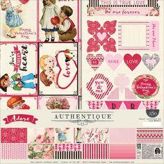 """Authentique Paper Adore Collection Kit 12""""x12"""""""