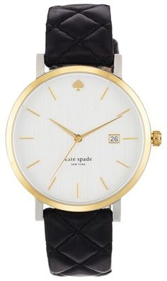 Kate Spade New York 'metro Grand' Quilted Strap Watch, 38mm - $195.00