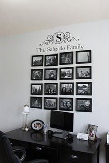 <3 this family photo wall.