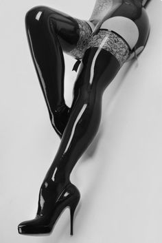OMG - latex thigh-high boots. Can't see me wearing them, but they are amazing.