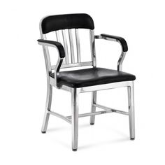 Emeco NAVY® SEMI-UPHOLSTERED ARMCHAIR - Emeco Chairs