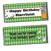 Golf Personalized Candy Bars