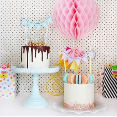 Party perfection by @paperplayground  #poprocparties #paperplayground #party #partyinspiration #pastel #cake