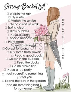 2019 Spring Bucket List - Druckversion - Heather Stillufsen Spring - Bucket List You are in the right place about Bucket List bujo Here we offer you Walking In The Rain, Walking In Nature, Picnic Spot, Summer Bucket Lists, Spring Has Sprung, Spring Cleaning, Spring Time, Happy Spring, Planners