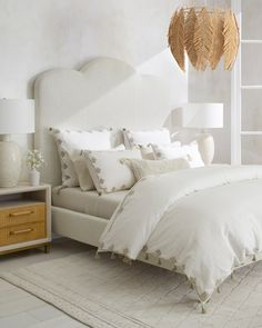 Top Ten: Favorite Finds that Add Texture & Style Statement Chandeliers, Bedroom Bed, Home Bedroom, Goose Down Pillows, Bed, Adjustable Mattress, Favorite Bedding, Duvet Covers, Briarcliff