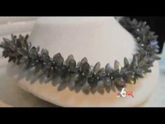 Miami News Story - Coconut Grove Arts Festival - Adrienne Gaskell in her Studio Kumihimo Jewelry