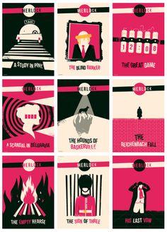 Sherlock Episode Posters on Behance